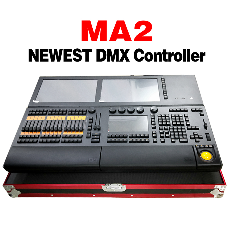 MA2 Dmx Controller Stage Light Controller Moving Head Good For Dj Disco Light Dmx 512 With Flight Case