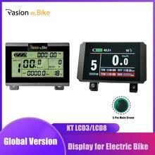 Display lcd cabo 24v 36v 48v kt display de bicicleta elétrica para kt controlador display bicicleta elétrica lcd3 lcd8
