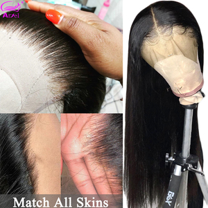 Straight Lace Front Human Hair Wigs 13x6 Glueless Hd 360 Lace Frontal Wig Brazilian Full Long Pre Plucked Wigs For Black Women(China)