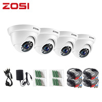 ZOSI 4 teile/los 1080P HD-TVI 2,0 MP CCTV Dome Kamera Home Security System Wasserdicht für 1080P HD-TVI DVR Systeme