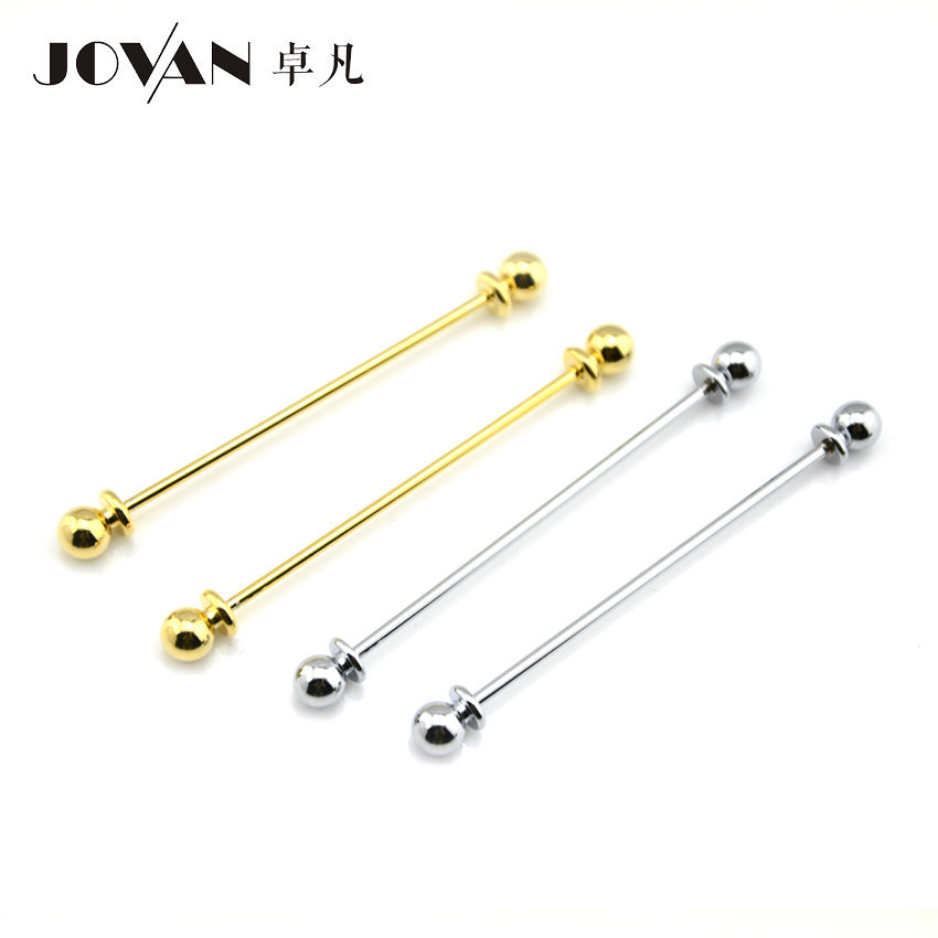 Zhuofan Jovan Korean-style Europe And America Men Formal Wear Shirt Collar Pin Bow Tie Round-Toe Band Edge Collar Rod