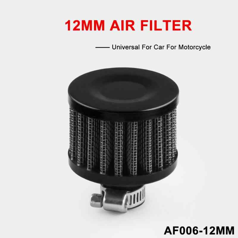 12mm AIR OIL CRANK CASE BREATHER FILTER MOTORCYCLE QUAD CAR BLUE /& CHROME ROUND