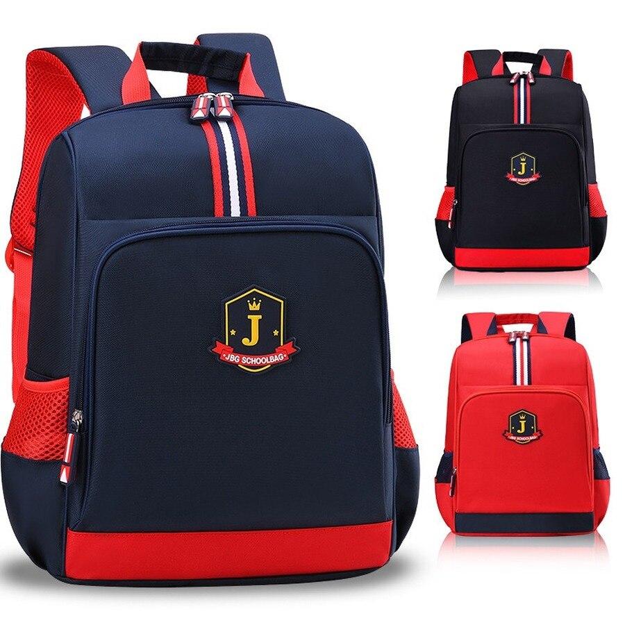 England Style School Bags Boys Backpack For Girls Solid Color Design Children Orthopedic Backpack Mochila Infantil Grade 1-5