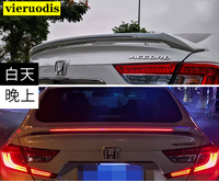 ABS Plastic Red Black White Color Rear Roof Wing Lip Trunk Spoiler With Led Light Car Styling For Honda Accord 2018 2019 2020