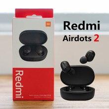 Xiaomi redmi airdots 2 xiaomi bluetooth fones de ouvido mi verdadeiro sem fio airdots s xiomi com cancelamento de ruído fone de ouvido