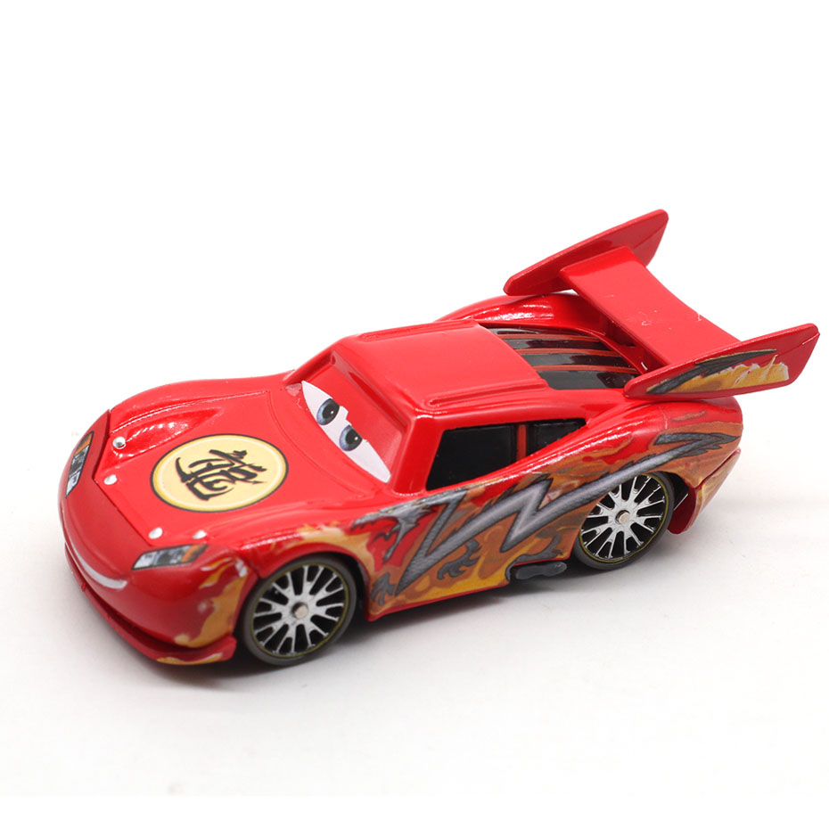 Disney Pixar Cars Dragon Lightning McQueen With Oil Stains 1:55 Diecast Metal Toy Car Model Loose New Kids Gift Free Shipping