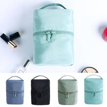 New Large-capacity Cosmetic Bag Travel Storage Bag Waterproof Portable Cylinder Female Wash Cosmetic Bag 20 portable large capacity folding storage travel waterproof wash bag