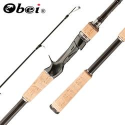 Obei HURRICANE 1.68m1.8m 2.1m 2.4m 2.7m 3m 3 Section Baitcasting Fishing Rod Travel Ultra Light Casting Lure 5g-40g M/ML/MH Rod