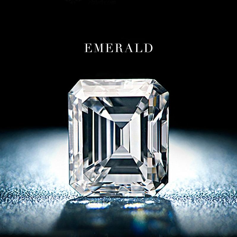 1 Carat United States Special Emerald Shaped Rectangular Octagonal Mosanite Barestone Diamond Ring Female Ring VVS Loose Stone