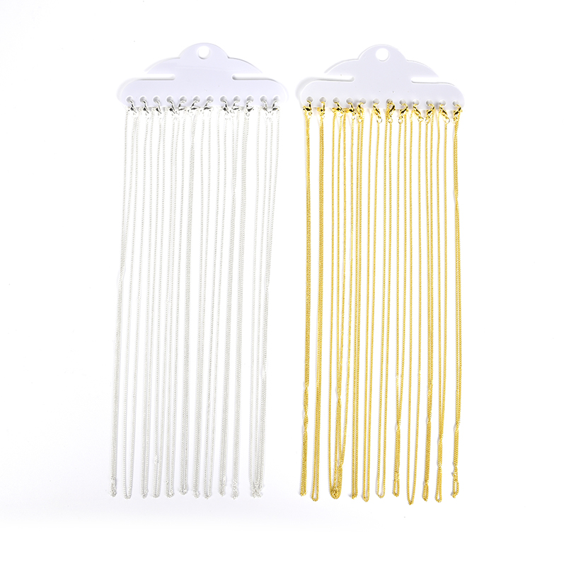 12Pcs/Lot 45cm Fine Chains DIY Findings Accessories Thin Necklace Chains For Jewelry Making