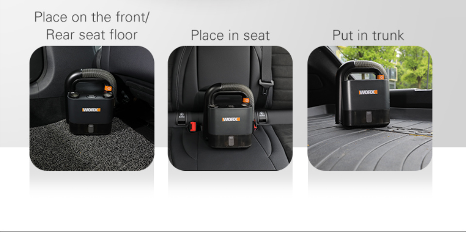 Where you can place WORX Vacuum Cleaner