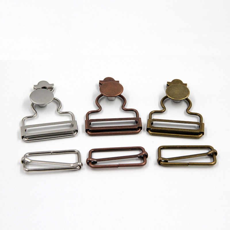 2 ensemble haute qualité rétro couleur Jean bouton crochet boucles bavoir pantalon bouton crochet accessoires métal palan boucle réglage outil