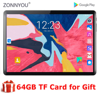 New 4G LTE Phone 5G Wifi Tablet Global Version 2.5D Glass Android 9.0 OS 10 inch tablet 8 Cores WiFi GPS Tablet 10.1+Free Gifts