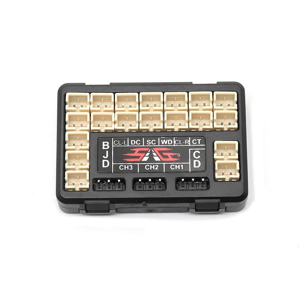 TRX4 RC coche delantero trasero luces LED grupo de luces delanteras, señales de giro, luces de freno para 1/10 RC orugas Traxxas TRX-4 Defender