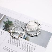 Lateefah индивидуальные серьги кольца с именем на заказ из бамбука