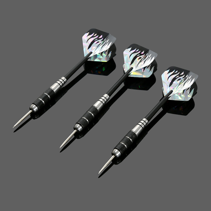 3Pc Darts With Spider Web Style Steel Needle Tip Darts /& Case 26g Professional