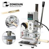 ZONESUN ZS-100 Manual PVC Card Leather Paper Hot Foil Stamping Bronzing Embossing Machine Heat Press Machine Branding Iron
