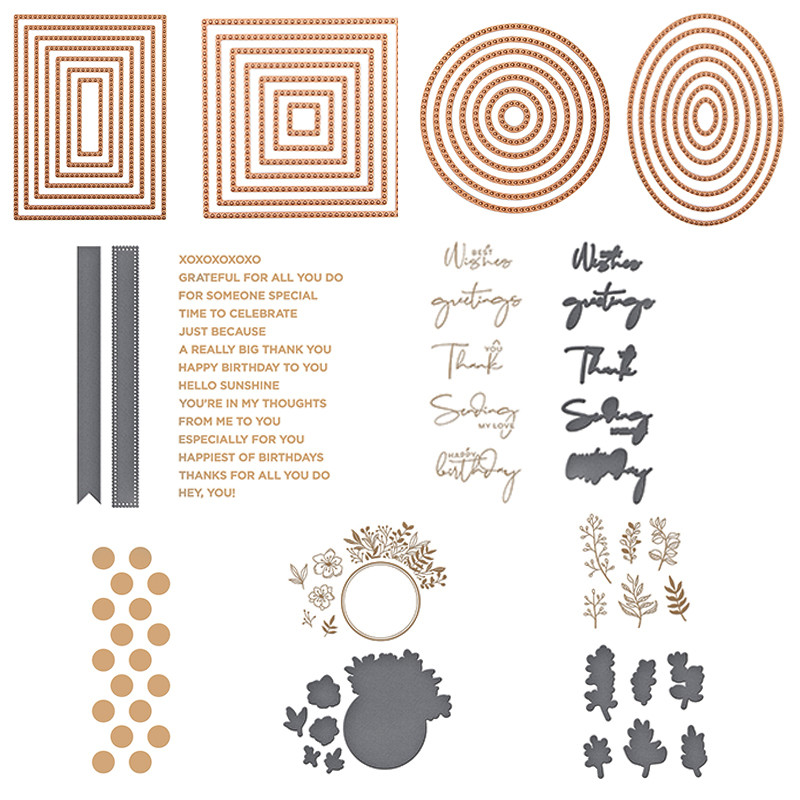 Circle Oval Square Rectangle Foliage Wreath Sentences Hot Foil Plate For DIY Scrapbooking Letterpress Embossing Cards Craft 2020