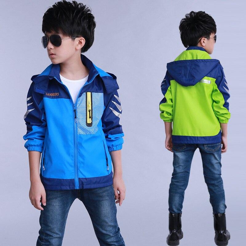 BOY'S Childrenswear 2019 New Style Korean-style Spring Kids' Overcoat Big Boy Printed Raincoat Jacket Fashion-Style