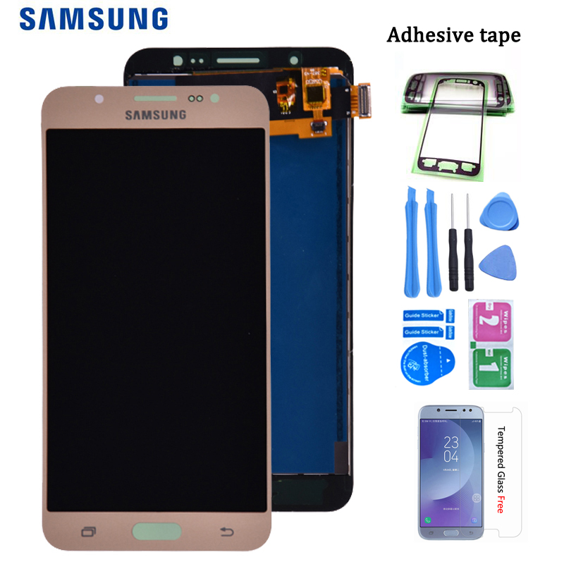 For Samsung Galaxy J7 2016 J710 SM-J710F J710M J710H J710FN LCD Display And Touch Screen Digitizer Assembly Adjust Brightness