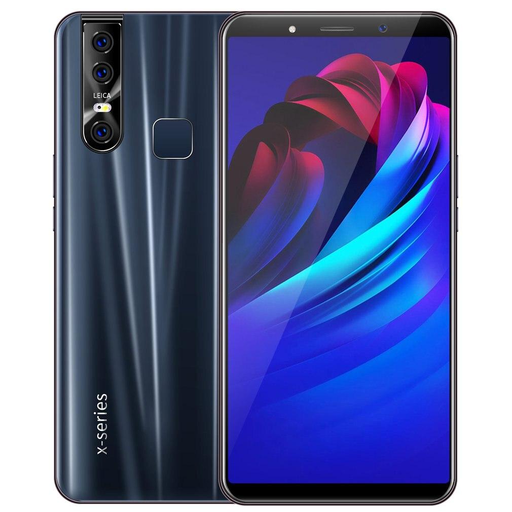 Cell Phone X27 Mobile Phone 6.3 Inch Three Shots Smartphone Fingerprintmobile 3G 1With 16G Phone Elevate Amazing Camera