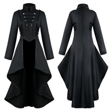 Plus Size Women Gothic Steampunk Button Jacket Female Lace Corset Fashion Hallow