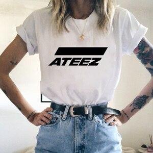 Kpop Group ATEEZ T-shirt tshirt Tops Hongjoong Seonghwa Yunho Yeosang San Mingi Wooyoung Jongho ATEEZ A TEEnager Z(China)