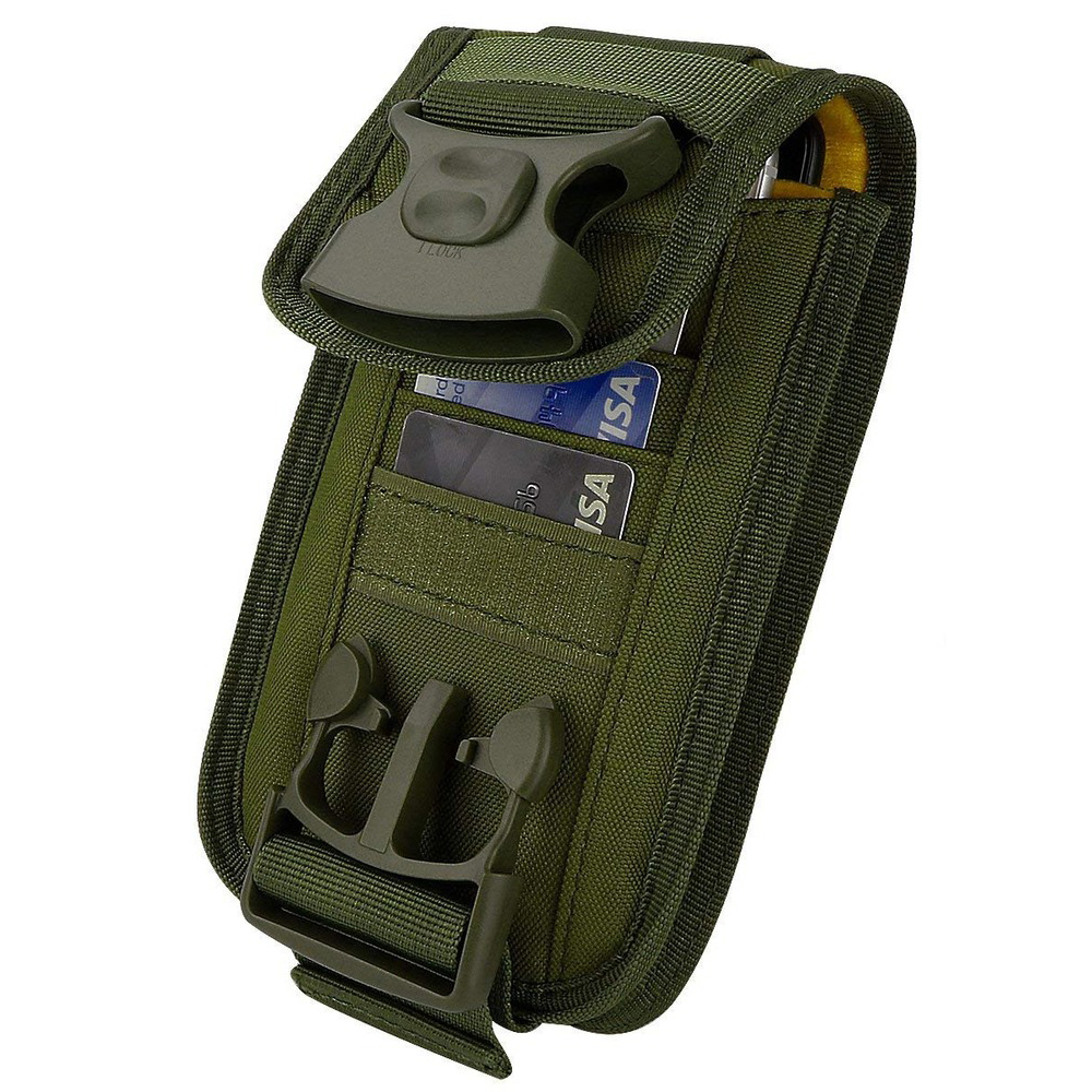 Tactical Molle Phone Holster Outdoor Belt Waist Bags Utility Vest Card Carrier Bag Mini Multi-function Travel Bag Pack EDC Pouch