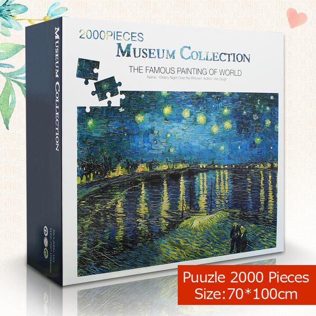Famous Painting puzzle 2000 pieces 70*100 cm of World Adult puzzles Kids DIY Jigsaw Puzzle Creativity Imagine Educational Toys
