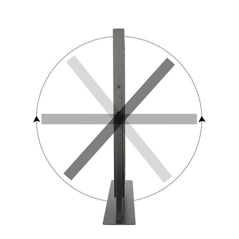 Настенный освещенный светодиодный поворотный зеркало для макияжа с 10X/7X/5X увеличением, Двухстороннее увеличительное/обычное зеркало, штеке... - 6
