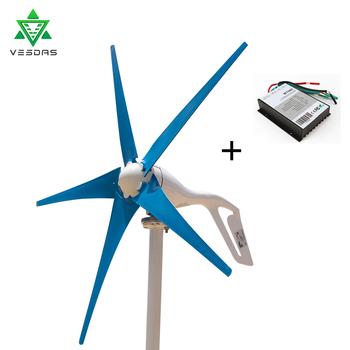 Wysokiej jakości wiatr Generator z turbiną 400W małe Mini wiatrak wiatr ostrza kontroler ładowania Generator do światło marynistyczne ziemi tanie i dobre opinie VESDAS Mini Wind Turbine Generator Windmill Generator energii wiatru 12V or 24VAC 1300mm 2m s 13m s 50m s Small Home Wind Turbine