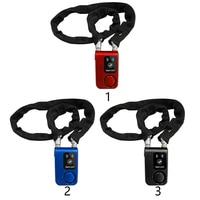 Bluetooth Anti Theft Bicycle Smart Waterproof Control Alarm Smartphone Chain Lock