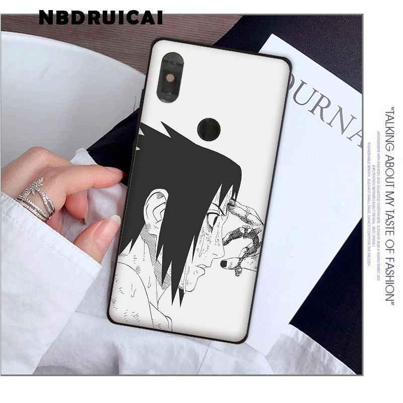 NBDRUICAI, funda de teléfono de lujo de Naruto Sasuke Kakashi en negro y blanco para Xiaomi8 9 se 5X Redmi 6pro 6A 4X 7 5plus note 5 7 6pro