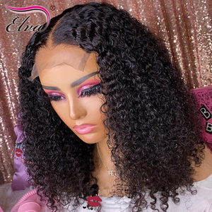 Image 3 - Pre Plucked Lace Front Human Hair Wigs Baby Hair Curly Brazilian Lace Front Wig Bleached Knots 360 Lace Frontal Human Hair Wigs