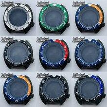 Miuksi – boîtier stérile en verre de saphir, 45mm, noir, rouge, bleu, lunette adaptée au mouvement NH35 NH36