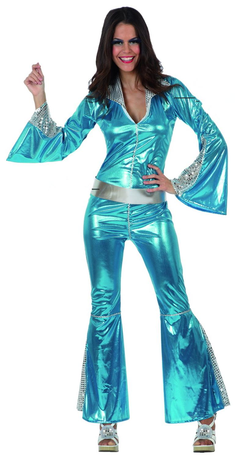Wholesale-New Style 70S Disco Costumes For Women Party Clothing Female Jumpsuit Outfits