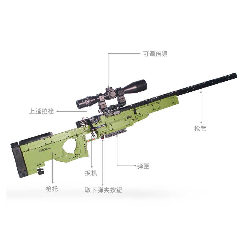 تناسب تكنيك سلسلة البنادق بندقية يمكن اطلاق النار الرصاص مجموعة أوم وينشستر M1897 DIY بها بنفسك نموذج ألعاب مكعبات البناء للبنين هدايا Lepining