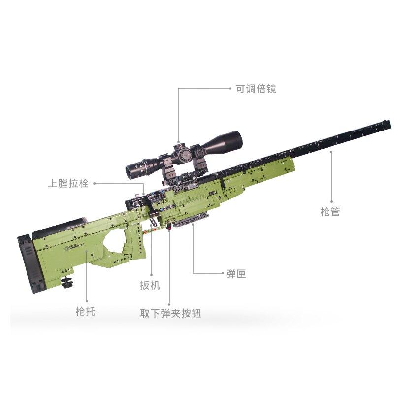 Image 3 - Fit Technic Series Guns shotgun Can Fire Bullets Set AWM Winchester M1897 DIY Model Building Blocks Toys For Boys Gifts LepiningBlocks   -