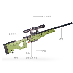 Image 3 - Fit Technic Series Guns shotgun Can Fire Bullets Set AWM Winchester Military Model Building Blocks Toys For Boys Gifts Lepining