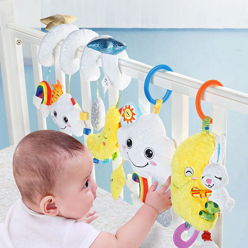 Baby Toys 0-24 Months Baby Mobile For Crib Stroller Toy Baby Rattles With Music Bed Around Multifunctional Educational Toy