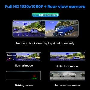 """Image 5 - WHEXUNE 2020 新 12 """"4 グラム Android 8.1 車 Dvr カメラ GPS ナビゲーションミラーレコーダーよりアプリと互換性 wifi ADAS ダッシュカム"""