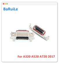 BaRuiLe 5pcs 2017 A3/A5/A7 מיקרו מטען מזח נמל מחבר עבור Samsung Galaxy A320/A520 /A720 USB טעינת שקע להגמיש