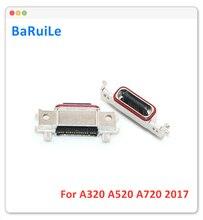 BaRuiLe Conector de puerto de carga Micro para Samsung Galaxy A320 / A520/A720, 5 unidades, 2017, A3 / A5/A7, Conector de carga USB Flex