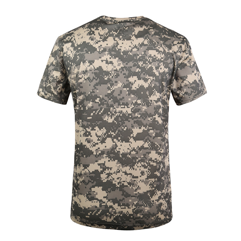 Tactical Combat Shirt Hunting Camo Short Sleeve Polyester Men Quick Dry t shirts Hunting Base Layers     - title=