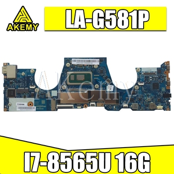 5B20T02804 For Lenovo YOGA  Y730 -13IWL  motherboard LA-G581P mianboard  100% fully tested  WHL I7 UMA 16G