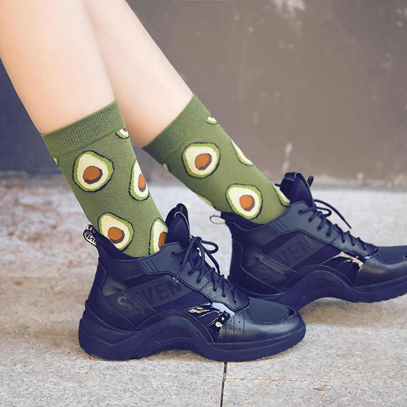 Kühl essen tier hip hop crew socken lustige straße glücklich socken frauen Harajuku Divertidos skateboard Chaussette Frau