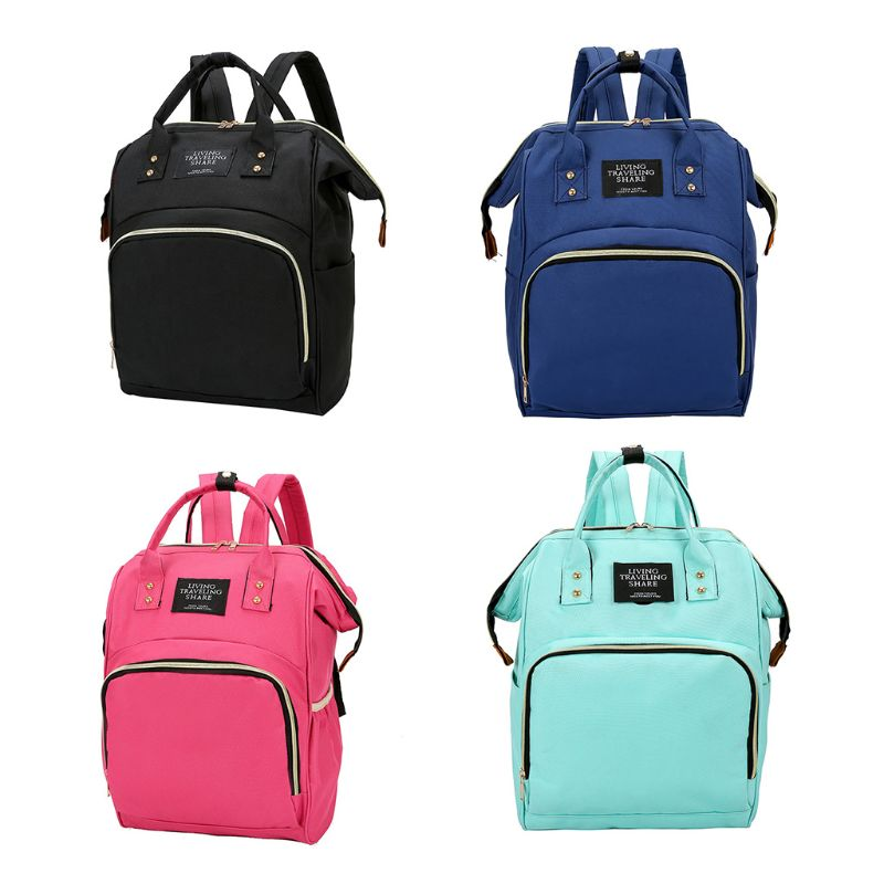 Mummy Bag Large Capacity Diaper Bag Baby Travel Backpack With Stroller Straps Generous, Simple Fashion
