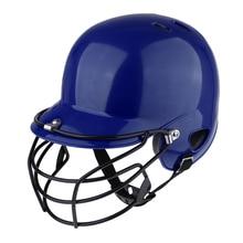 Baseball Batting Helmet Softball Compact Mask Dual Density Impact Head Face Guard with Ear Protector