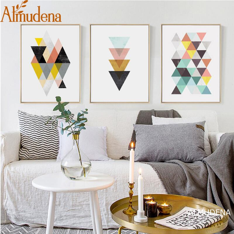 ><font><b>Modern</b></font> Simple Abstract Geometric Nordic <font><b>Style</b></font> Living Room Wall Art Painting on Canvas Fashion <font><b>Home</b></font> Decoration Picture Unframed