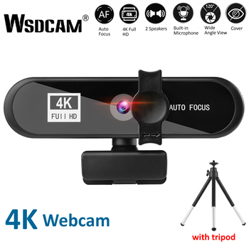 2K 4K Webcam Conference PC Webcam Autofocus USB Web Camera Laptop Desktop for Office Meeting Home With MIC 1080P Full HD Web Cam 1